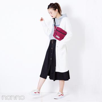 人気のトレンチスカートはガウンコートが相性抜群【毎日コーデ】