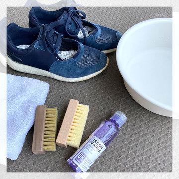 晴れた日はお気に入りのスニーカーを洗うチャンス! スウェード素材も洗えるクリーナーが便利