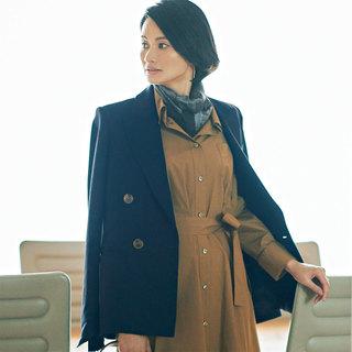 「一枚でサマ見えワンピ」 きちんと見えて女っぽいシャツワンピースはお仕事に最適!