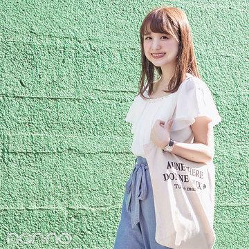 通学コーデはデニムワイドパンツで♡【期間限定で毎日更新!カワイイ選抜の夏服スナップday7 】