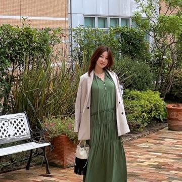 大草直子さんコラボの揺れるワンピースを秋コーデしてみました Part1