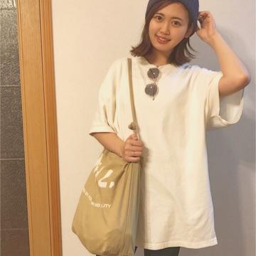 【ビッグTシャツが可愛い】レトロガール×GU プチプラコーデ(•ө•)♡