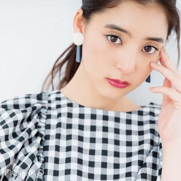 甘めギンガムトップスは、メイクで大人っぽく! 新木優子のお姉さんメイクHOWTO♡