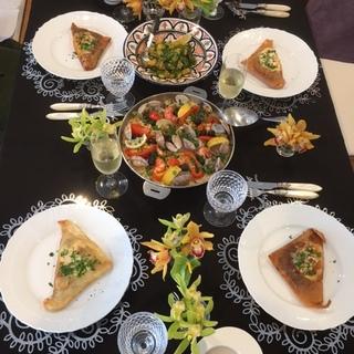 モロッコ料理レッスンで豪華ランチ♡