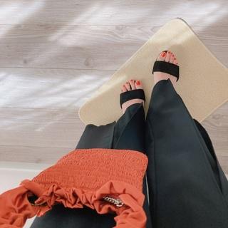 100均ジェルネイル♡bagとリンクするのも可愛い【momoko_fashion】