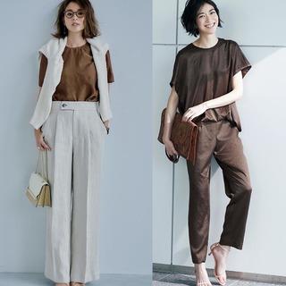 アラフォーをスタイリッシュに魅せる初夏のブラウンコーデまとめ|40代ファッション