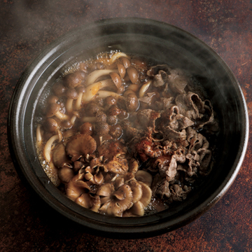 牛肉ときのこの鍋