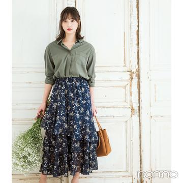 この秋大ブーム! ヴィンテージ風花柄スカート、買うならコレ♡