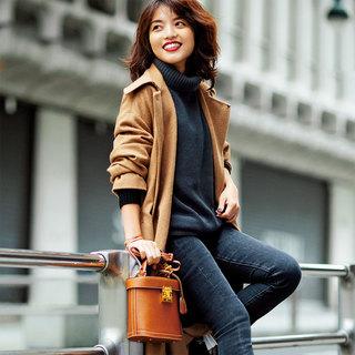 「足もとあったかテク」を味方に!スタイリスト松村純子の真冬も「デニム」で女っぷり!