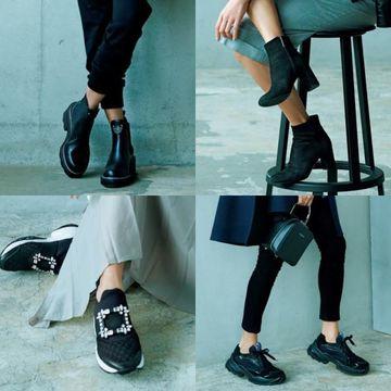 50代の美脚とおしゃれをかなえる「黒ショートブーツ」と「黒スニーカー」