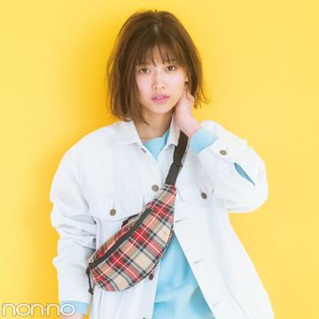渡邉理佐が着るスナイデルの白Gジャン♡ コーデが一気に春らしく!