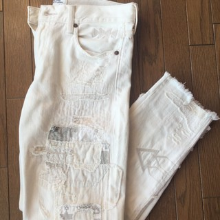 夏セール戦利品、ポロラルフローレン♡白のボーイフレンドデニム