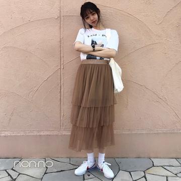 江野沢愛美のNIKEコルテッツの甘カジコーデ【毎日コーデ】