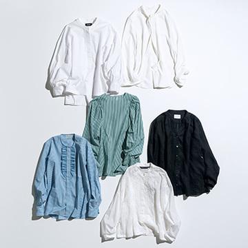 ハンサムシャツに甘さをトッピング! ブラウス風シャツ6