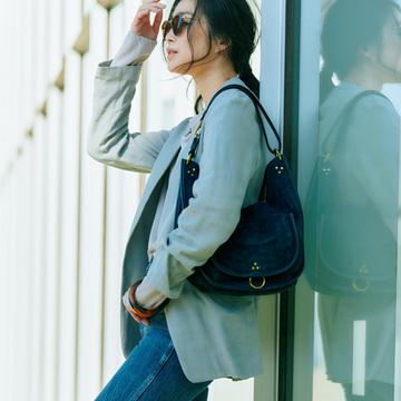 【50代をきれいに見せるデニムコーデ】レディライクなフラット靴×デニムで新鮮スタイル