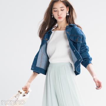 優子・七瀬・まなみんが着る! 女子が永遠好きな配色★パステル×デニム2018春の4選