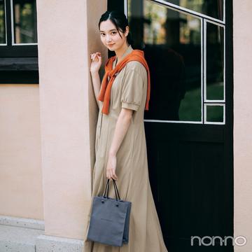 新川優愛はカーデで秋色を差して可愛げをひと盛り♡【毎日コーデ】