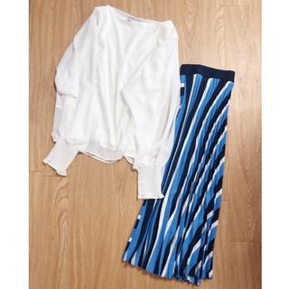 プチプラ♡袖コンシャスブラウスと綺麗色スカート