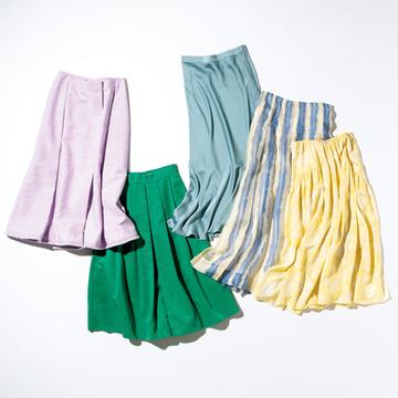 甘いだけに終わらない! 最旬「きれい色スカート」5選【瞬間着映え服でおしゃれに】