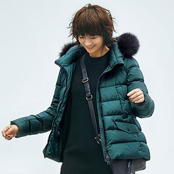 富岡佳子×「ヘルノ」最新コレクション