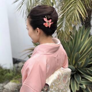 桜色の着物を着て卒業式へ♪_1_2