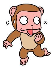 落ち着きのない猿