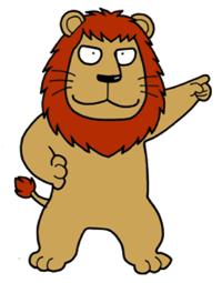 統率力のあるライオン